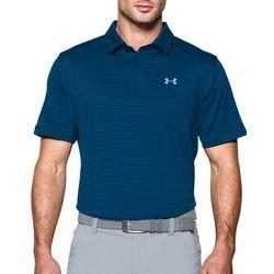Under Armour Mens Tee Time Stripe Golf Polo
