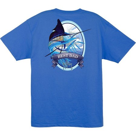 Guy Harvey Mens Marlin Best Dad Pocket T-Shirt