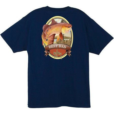 New! Guy Harvey Mens Best Dad Pocket T-Shirt