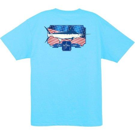Guy Harvey Mens Spangled Pocket T-Shirt