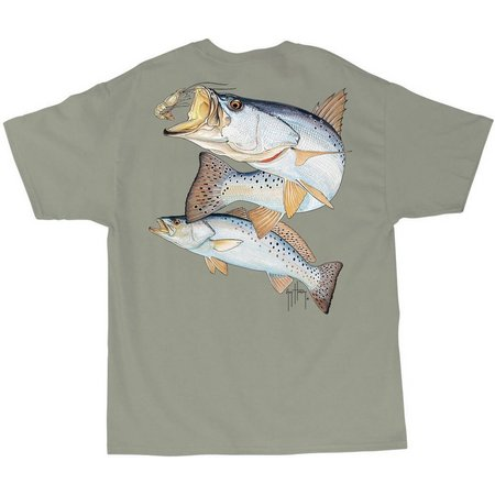 Guy Harvey Mens Seatrout with Shrimp T-Shirt