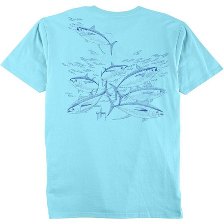 Guy Harvey Tuna Etchings T-Shirt