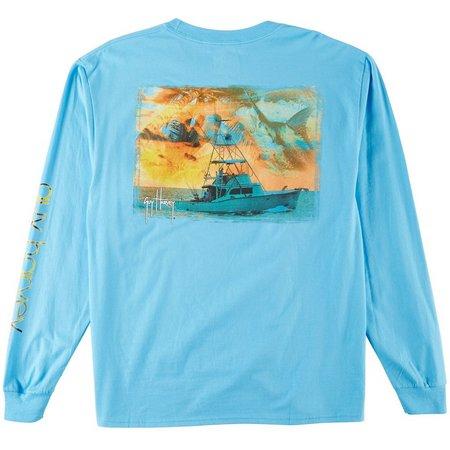 Guy Harvey Mens Long Sleeve Cruisin T-Shirt
