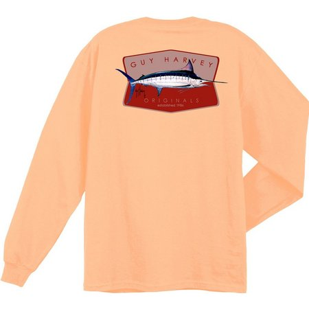 Guy Harvey Mens Long Sleeve Mango Reflecto T-Shirt
