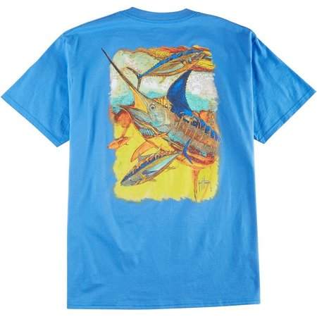 Guy Harvey Mens Zig Zag Marlin T-Shirt