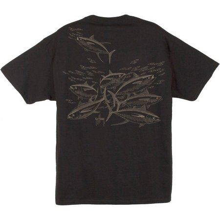 Guy Harvey Mens Tuna Etchings T-Shirt