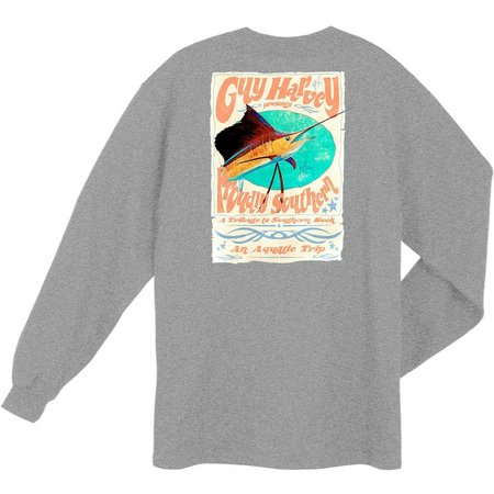 Guy Harvey Mens Trippy Long Sleeve T-Shirt