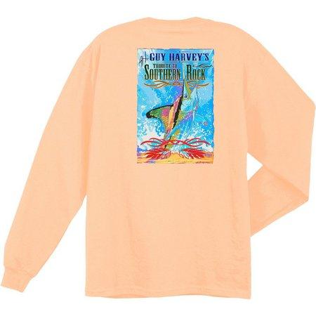 Guy Harvey Mens Blackhawk Long Sleeve T-Shirt