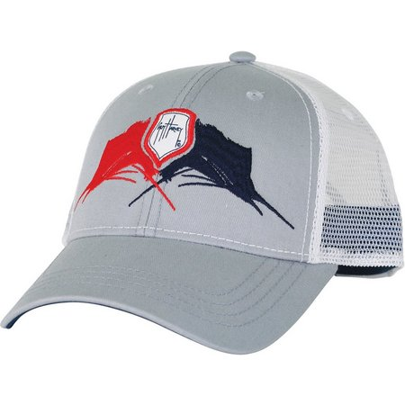 Guy Harvey Mens Face Off Trucker Hat