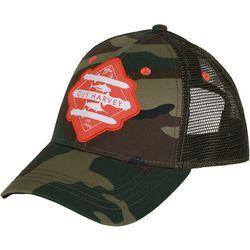 Guy Harvey Mens Dos Daggers Camo Trucker Hat