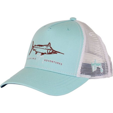 Guy Harvey Mens Tight Line Trucker Hat