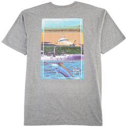 Guy Harvey Mens Heather Jet Set T-Shirt