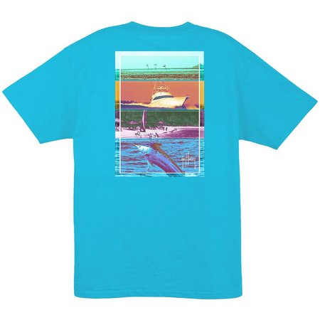 New! Guy Harvey Mens Reef Blue Jetset T-Shirt