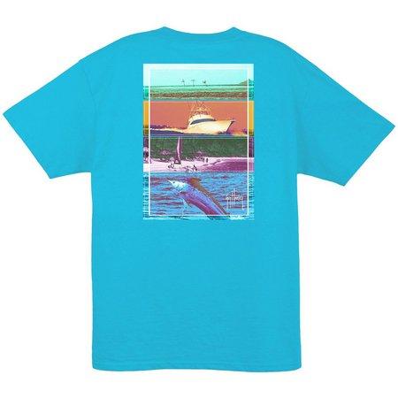 Guy Harvey Mens Reef Blue Jetset T-Shirt