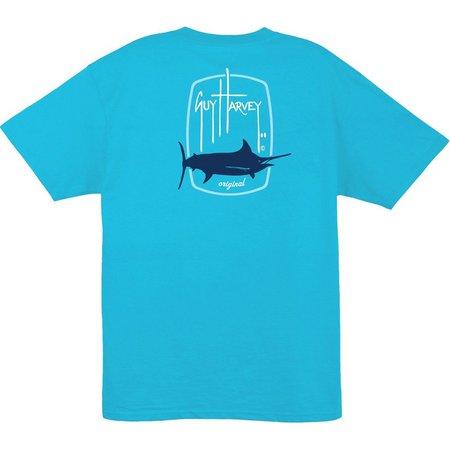 New! Guy Harvey Mens Barrel Logo T-Shirt