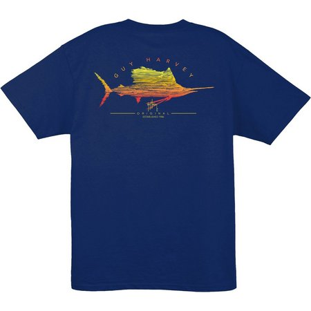 Guy Harvey Mens Sailfish Logo T-Shirt
