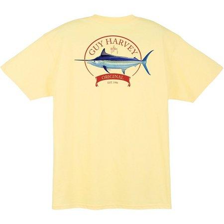 Guy Harvey Mens Members Only Pocket T-Shirt