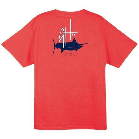 Guy Harvey Mens Initial Logo T-Shirt