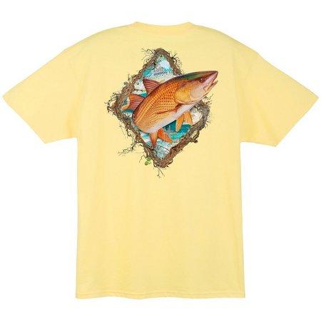 Guy Harvey Mens Redfish Frame T-Shirt