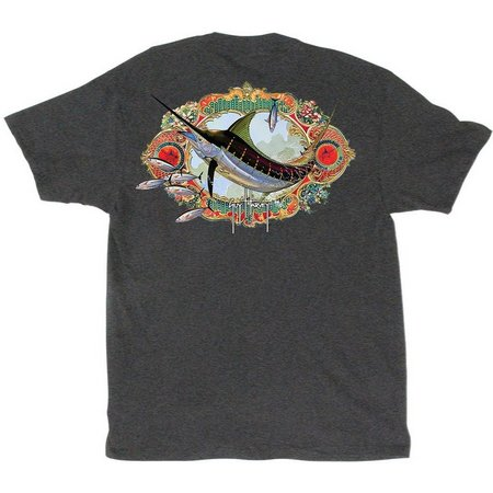 Guy Harvey Mens Santiago Heather T-Shirt
