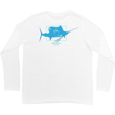 Guy Harvey Mens Sailfish Logo Pro UVX Shirt