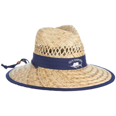 Guy Harvey Mens Sailfish Straw Fishing Hat