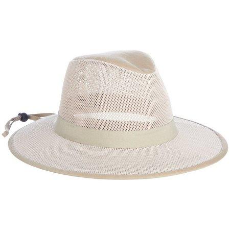 Guy Harvey Mens Khaki Mesh Fishing Hat