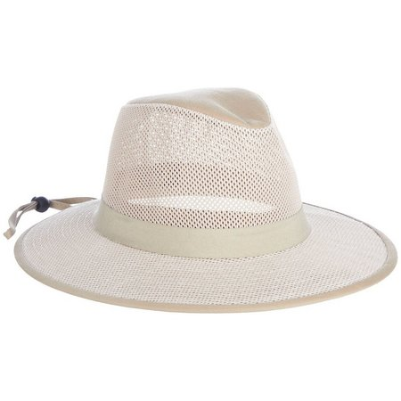Guy Harvey Mens Khaki Mesh Fishing Hat
