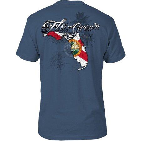 FloGrown Mens State Flag Split T-Shirt