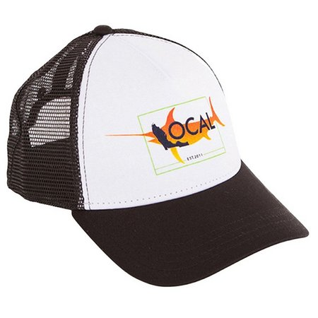 Local Mens Fade Fish Snapback Trucker Hat