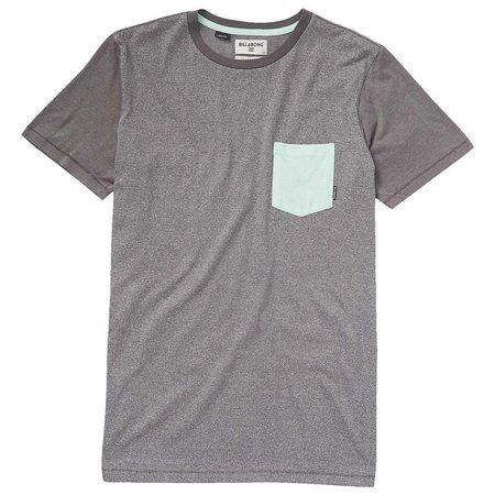 Billabong Mens Pewter Zenith Pocket T-Shirt
