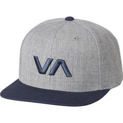 RVCA Mens Grey VA Snapback II Hat