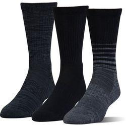 Under Armour Mens 3-pk. Phenom Twisted Crew Socks