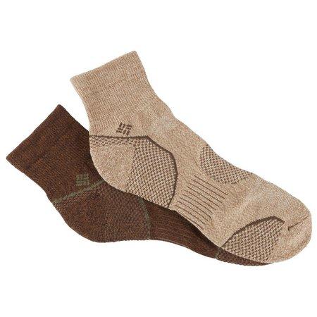 Columbia Mens 2-pk. Walking Quarter Socks