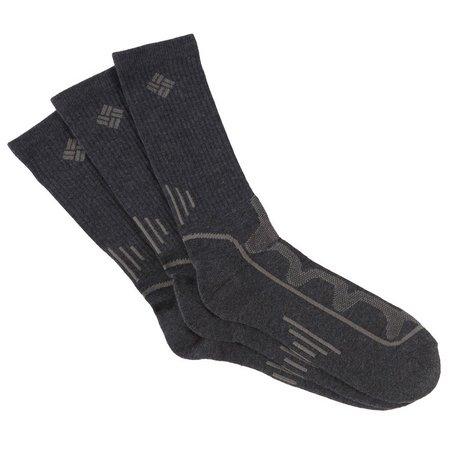 Columbia Mens 3-pk. Charcoal Performance Crew Socks