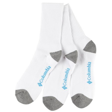 Columbia Mens 3-pk. Athletic Toe Block Crew Socks