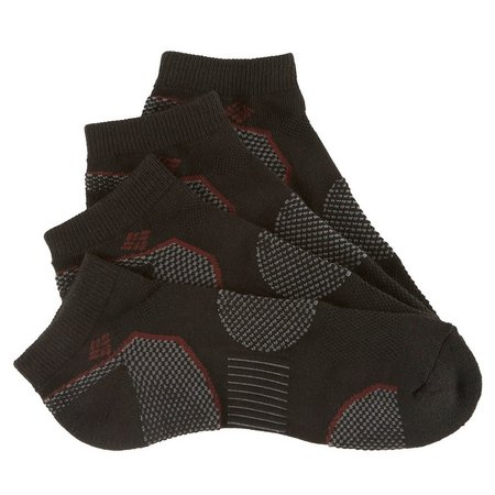 Columbia Mens 2-pk. Black Low Cut Walking Socks