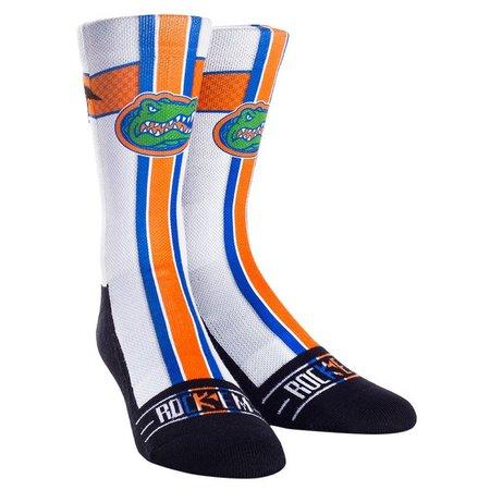 Florida Gators Mens White Jersey Socks By Rock'Em