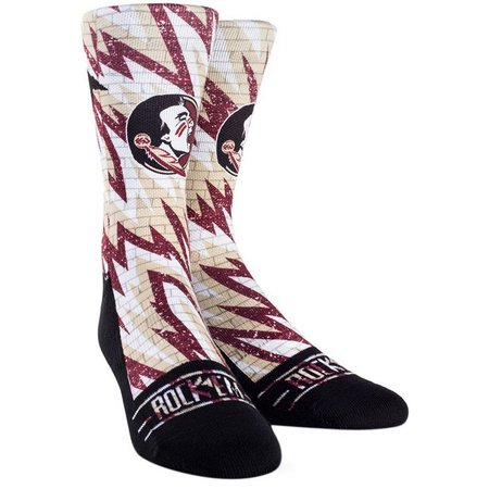 Florida State Mens Static Brick Socks By Rock'Em