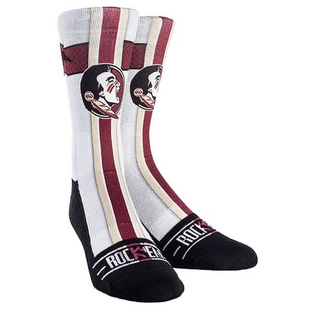 Florida State Mens White Jersey Socks By Rock'Em