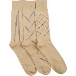 Boca Classics Mens 3-pk. Khaki Socks