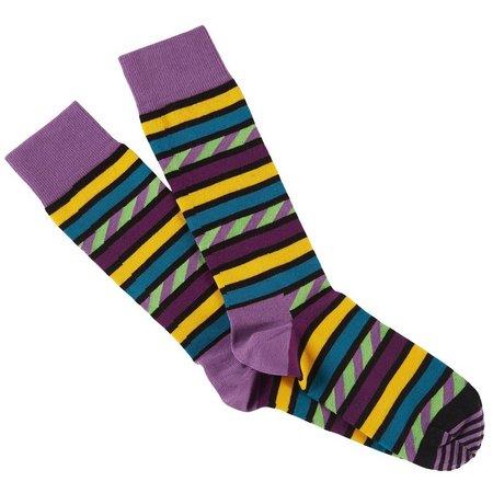 Happy Socks Mens Stripes In Stripes Crew Socks