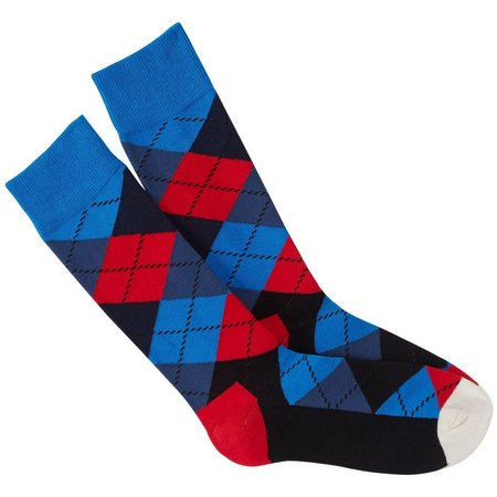 Happy Socks Mens American Argryle Crew Socks