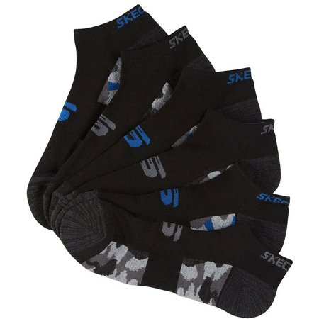 Skechers Sport Mens 6-pk. Black & Blue Socks
