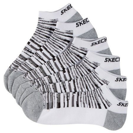 Skechers Sport Mens 6-pk. White Socks