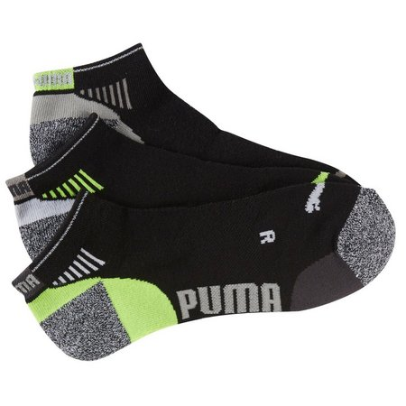 Puma Mens 3-pk. Black Sport Low Cut Socks