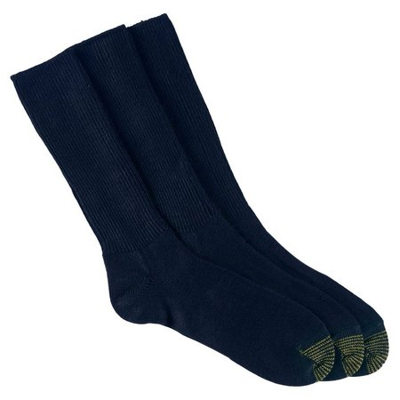 Gold Toe Mens 3-pk. Fluffies Crew Socks