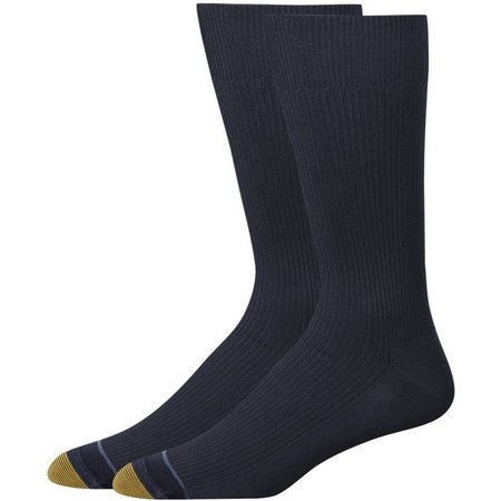 Gold Toe Mens 2-pk. Cotton Comfort Crew Socks