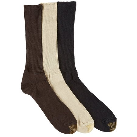 Gold Toe Mens 3-pk. Fluffies Dress Socks