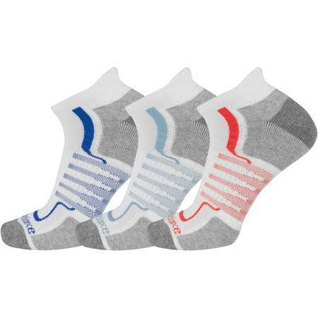 New Balance Mens 3-pk Low Cut Tab Socks
